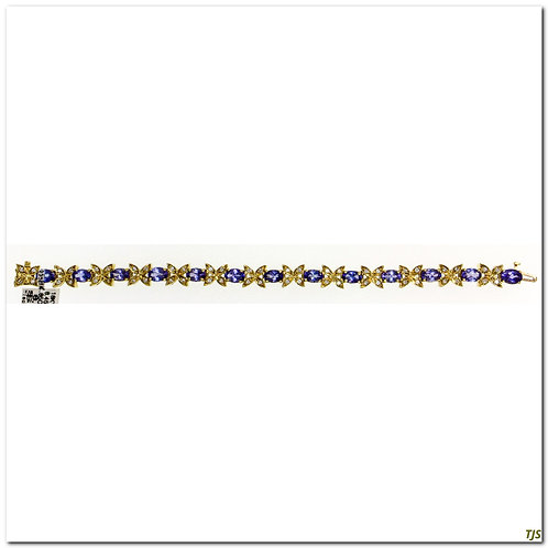 Gold Tanzanite & Diamond Bracelet