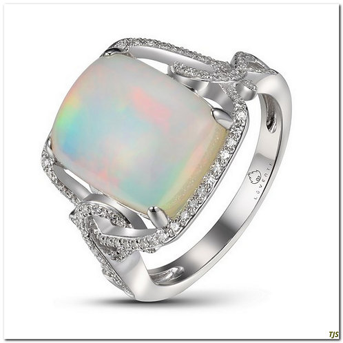 Gold Diamond & Opal Ring