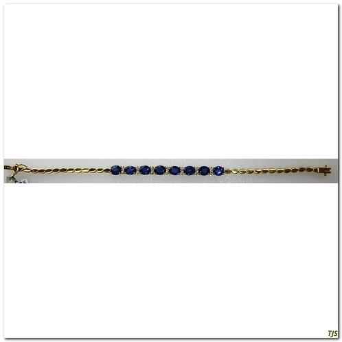 Gold Diamond & Sapphire Bracelet