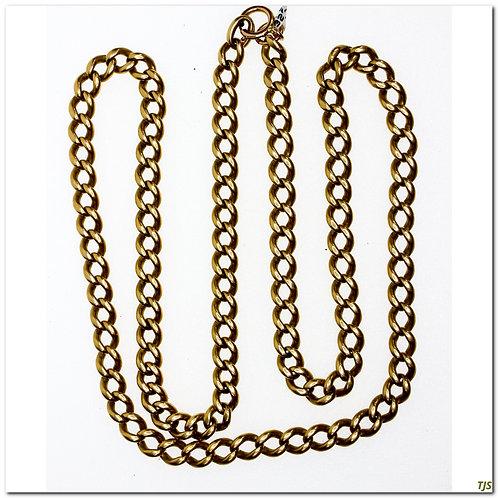 Gold Victorian Curb Link Chain