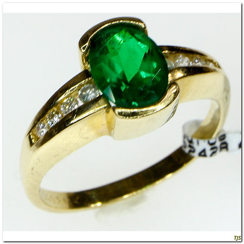 Gold Diamond & Emerald Ring