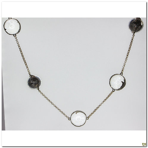 Gold Crystal Orb Necklace
