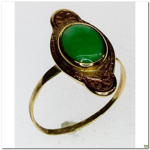 Rose Gold Jadeite Ring
