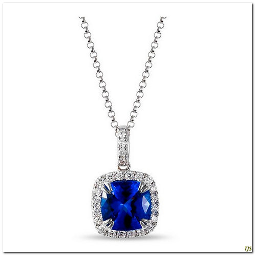 Gold Diamond & Tanzanite Necklace
