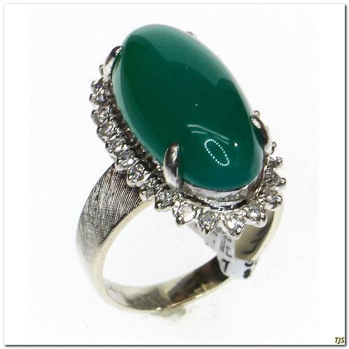 Gold Green Onyx Ring