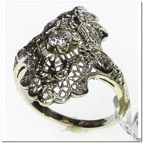 Antique Filigree & Diamond Ring