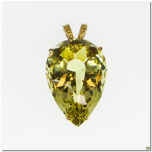 Gold Citrine Necklace