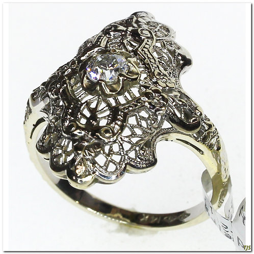 Antique Filigree & Diamond Ring
