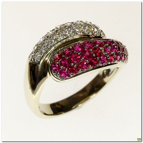 Gold Diamond & Ruby Ring