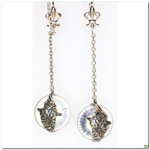 Gold Crystal Orb Earrings