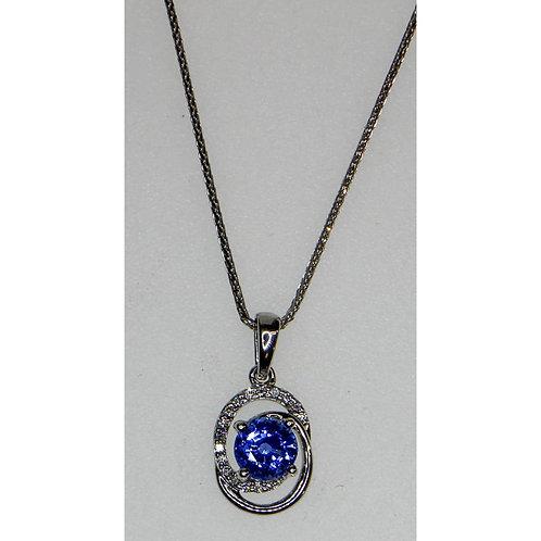 Gold Diamond & Sapphire Necklace