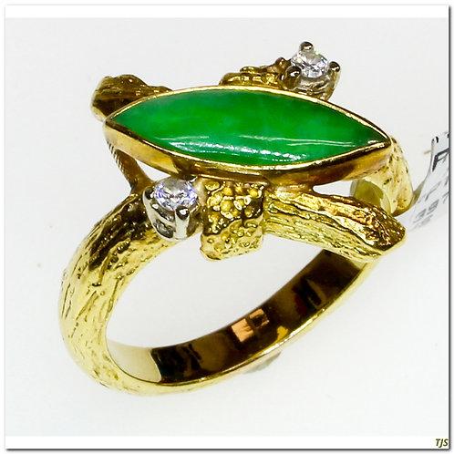 Gold Jade Ring