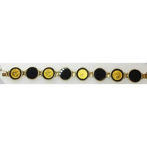 Gold Black Onyx Bracelet