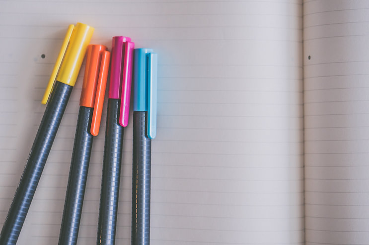 yellow-orange-pink-and-blue-coloring-pen
