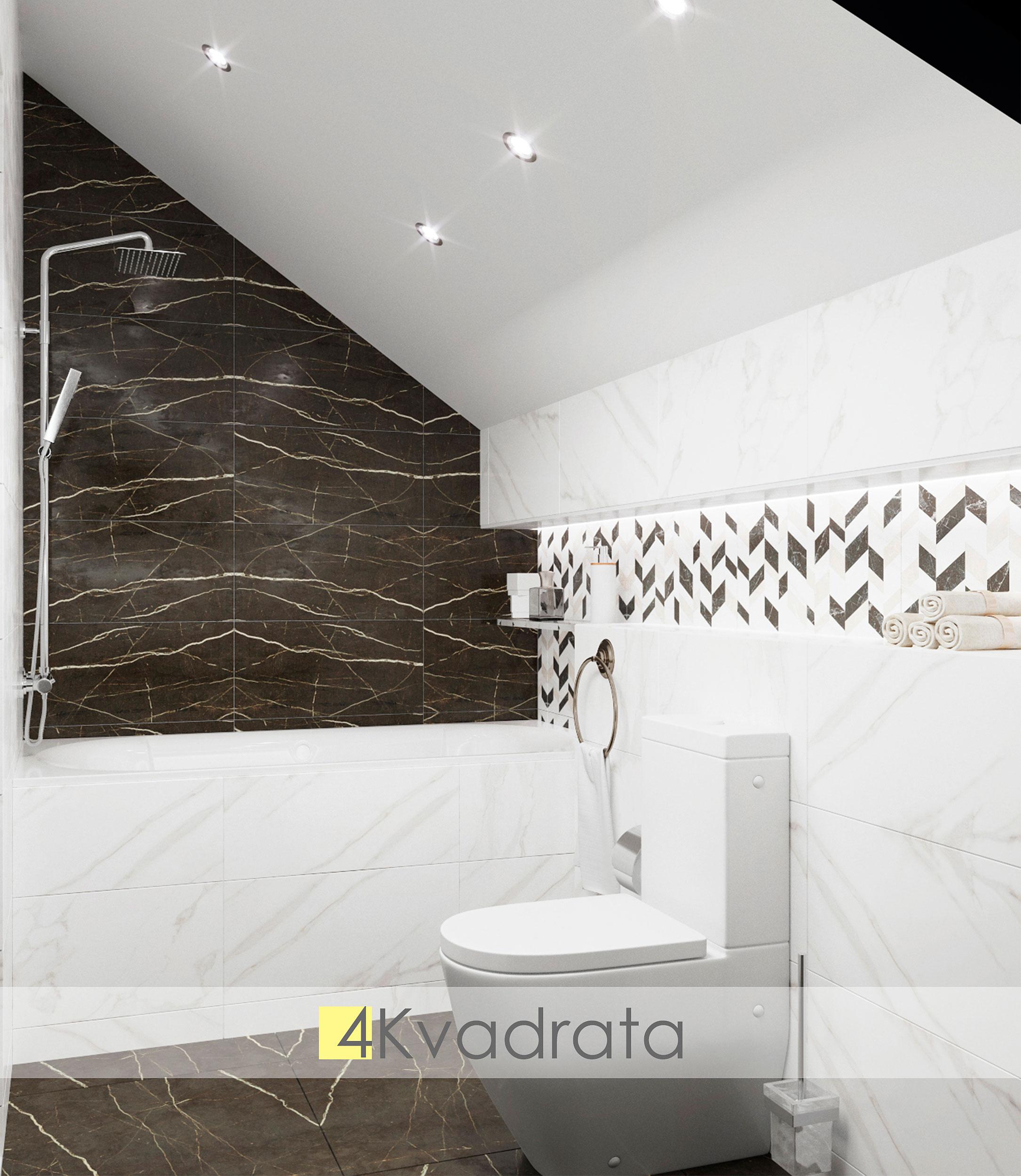 Ванная-комната-коттеджа-вид-на-ванну