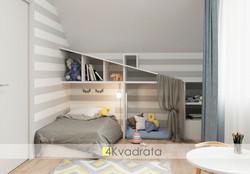 Детская-комната-коттеджа-вид-на-спальное