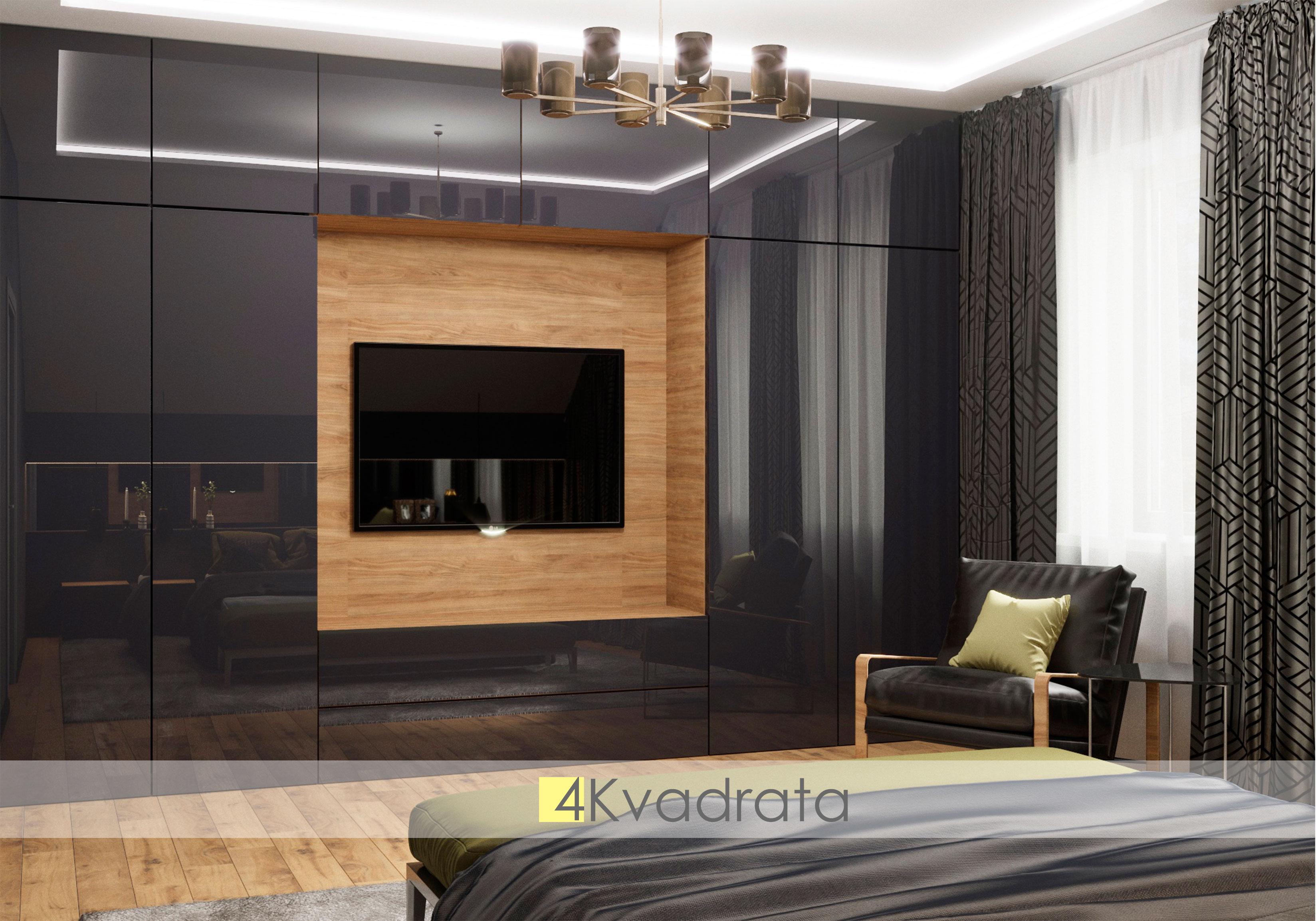 Спальная-комната-коттеджа-вид-на-тв-зону