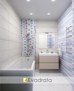 Интерьер ванной комнаты квартира Чариков