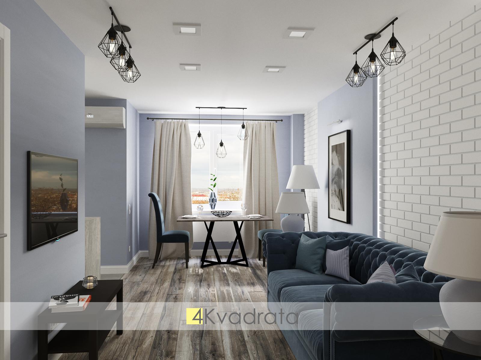 Гостиная квартиры Чариковы