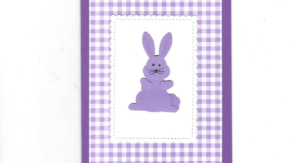 # 500  Bunny Card - Purple