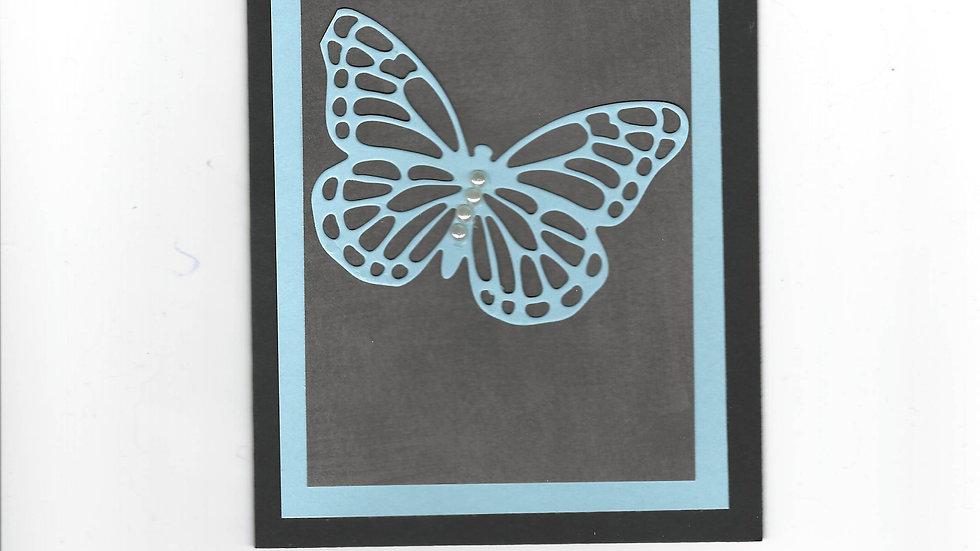 # 202  Butterfly Card - Light Blue