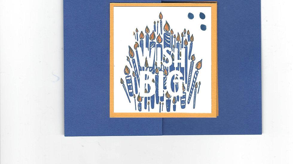 """# 102   Double """"Z"""" Wish Big Card"""