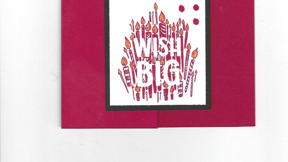 """# 101  Double """"Z"""" Wish Big Card"""