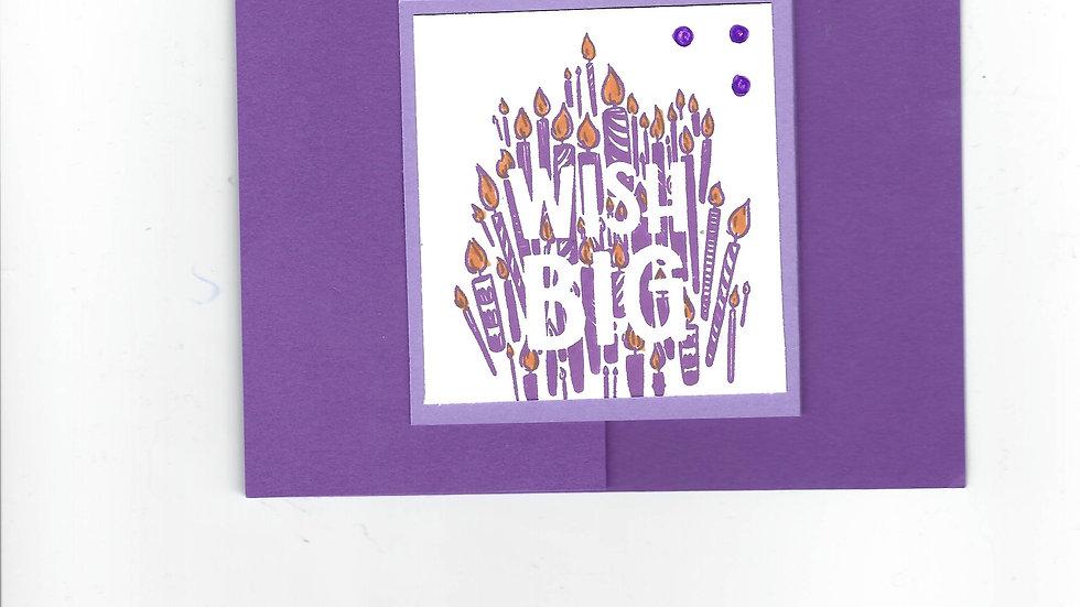 """# 103  Double """"Z"""" Wish Big Card"""