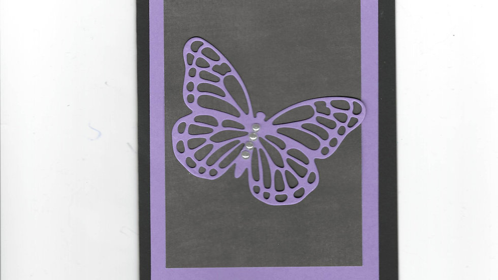 # 204  Butterfly Card - Purple