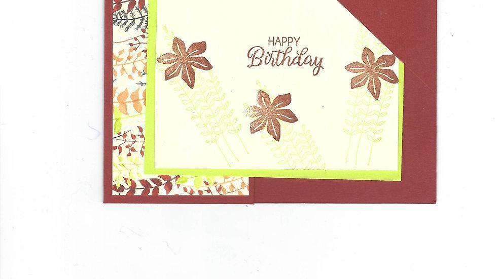 # 1200     Corner Tuck Happy Birthday Card