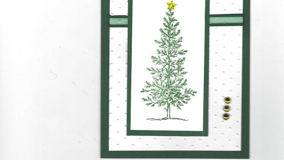 #  1000  Christmas Tree Card