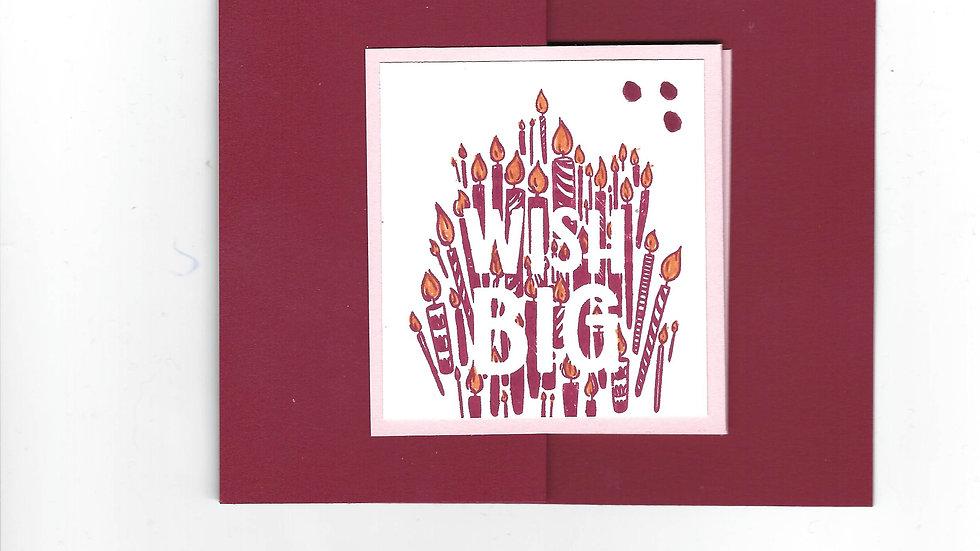 """# 104  Double """"Z"""" Wish Big Card"""