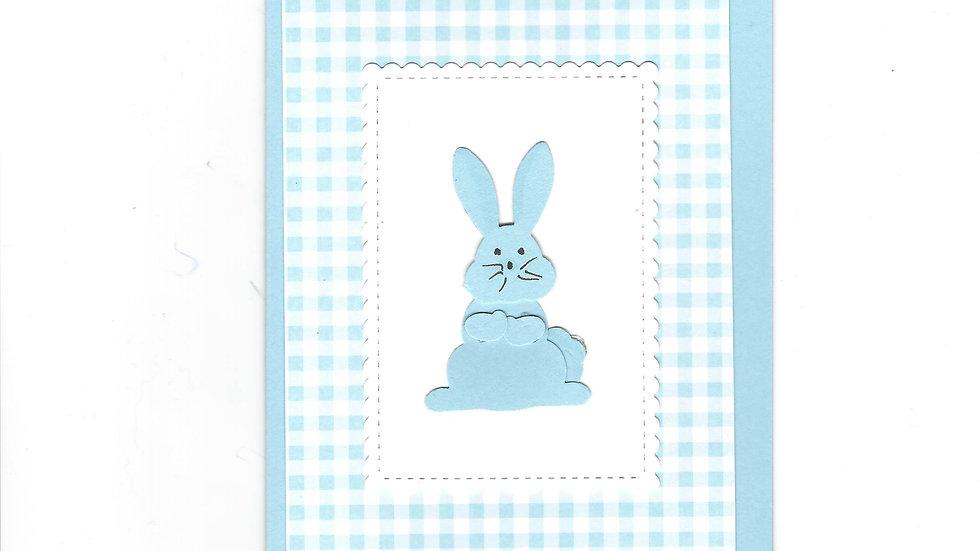 # 501  Bunny Card -  Light Blue