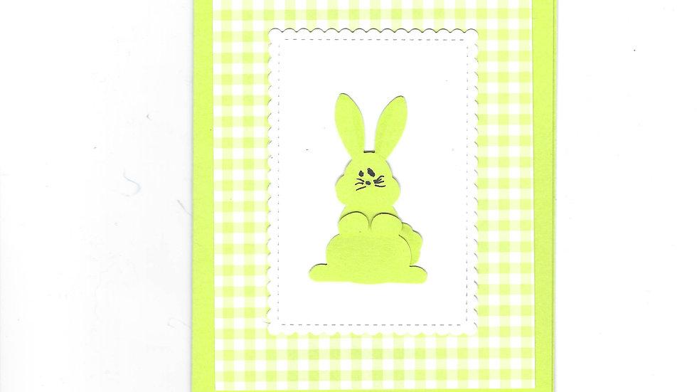 # 502  Bunny Card -  Bright green