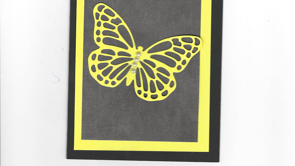 # 203  Butterfly Card - Yellow