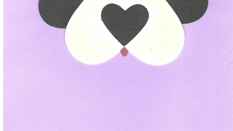 #1302 Heart Shaped Dog Card