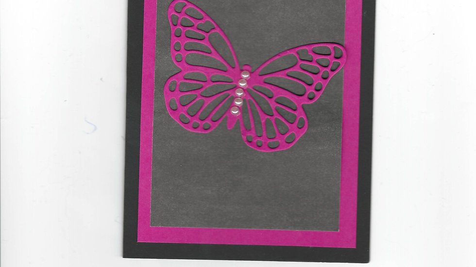# 201  Butterfly Card - Hot Pink