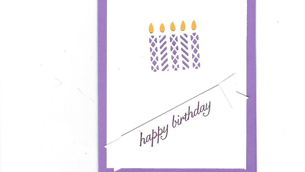 # 903     5 Candle Eyelet Happy Birthday Card