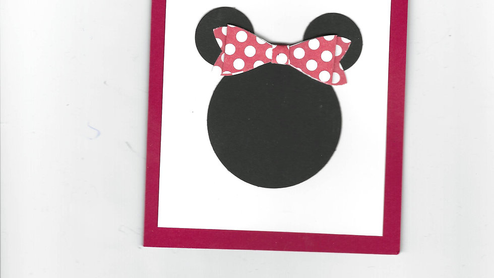 #  701  Minnie Mouse Card