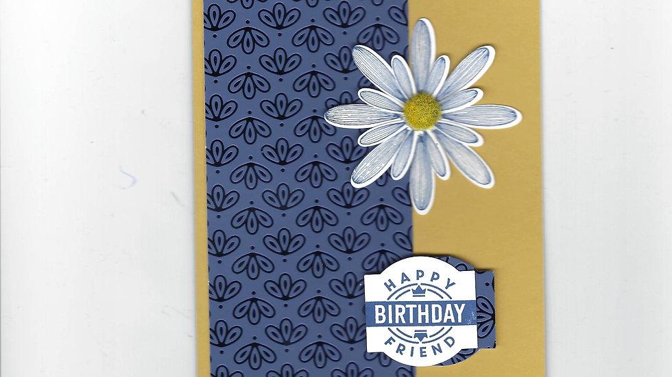 # 300  Daisy Happy Birthday Friend Card