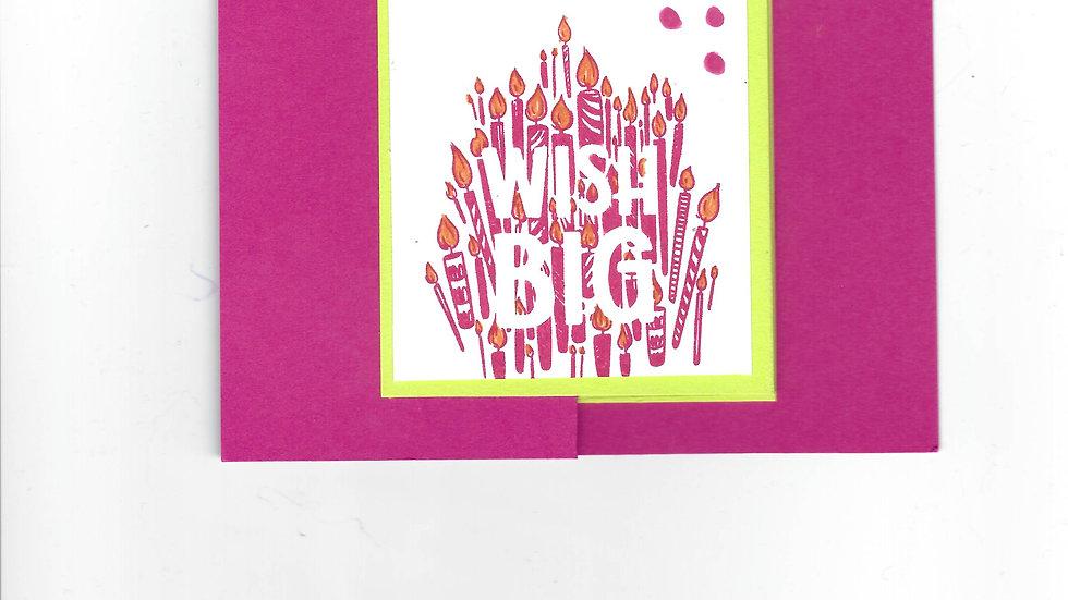 #100  Double Z Big Wish Card