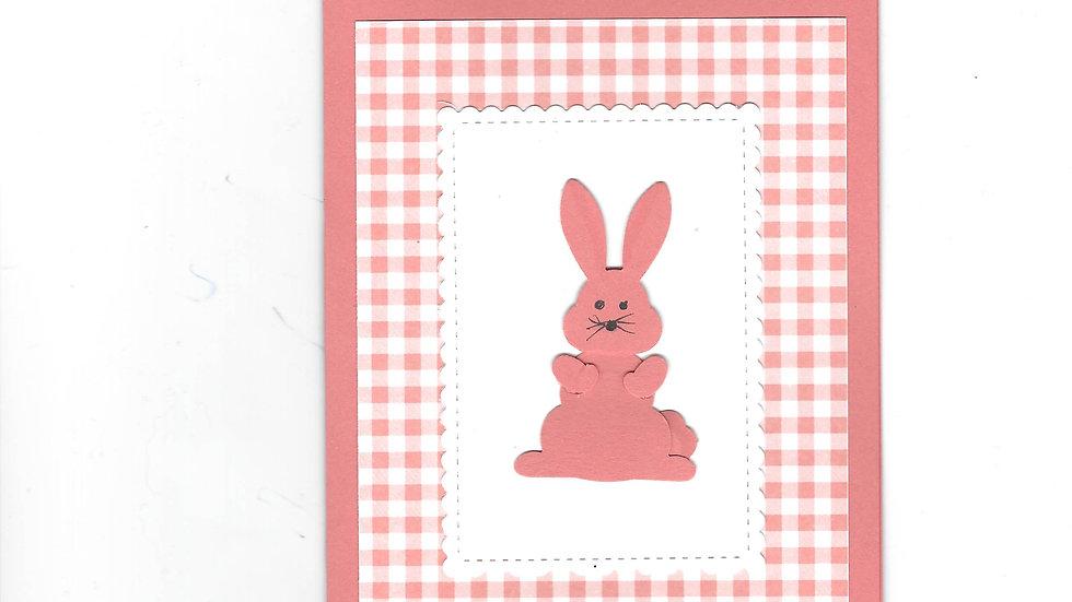 # 504  Bunny Card -  Peach