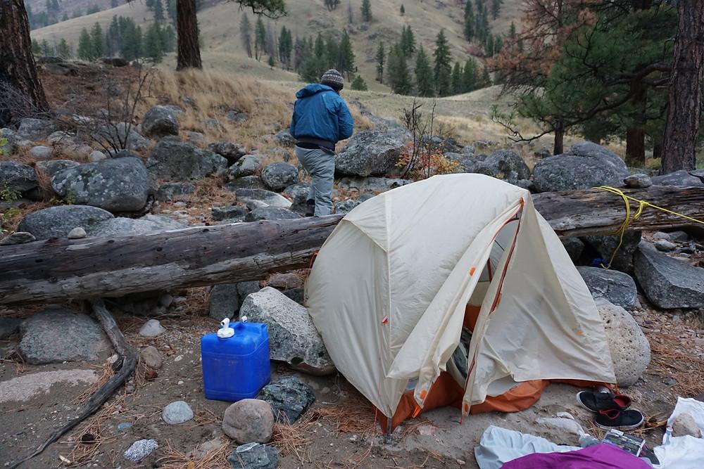 falling tent