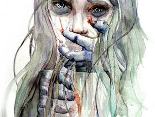 La femme blessée par l'homme