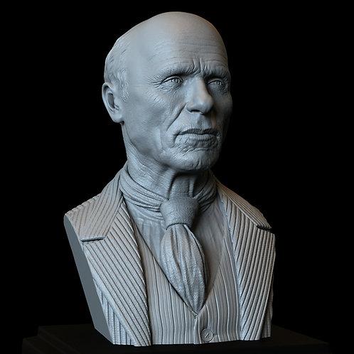 Ed Harris 3d Printable Model, Bust, 200mm tall