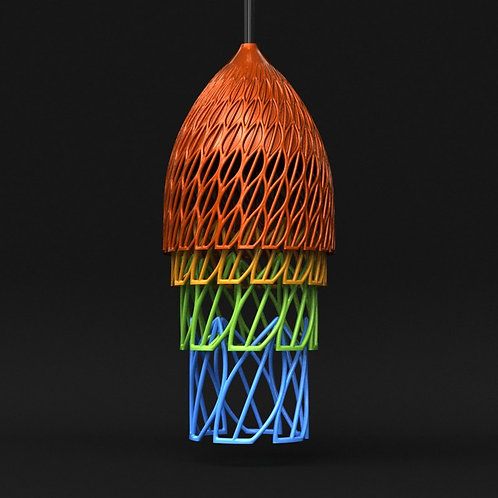Borneo Lamp - single material and multi-material versions included
