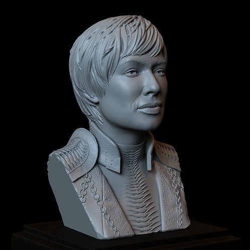 cersei lannister, Lena Headey, game of thrones, hbo, sculpture, bust, 3d printing