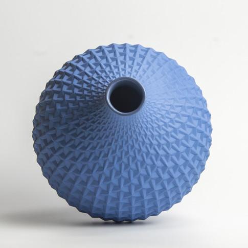 Origami Vase blue