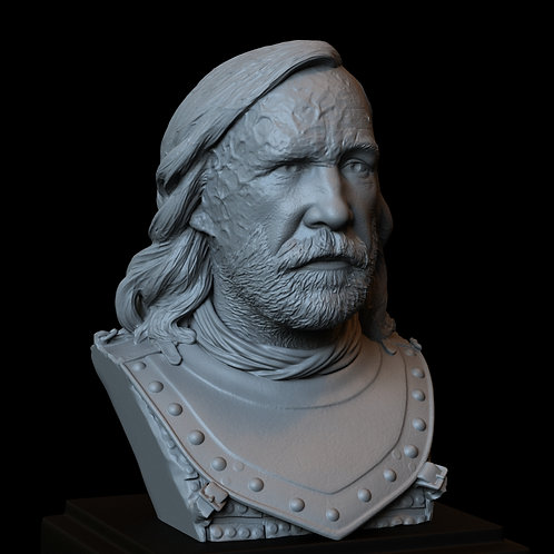 sandor clegane, the hound, game of thrones, sculpture, bust, 3d printing