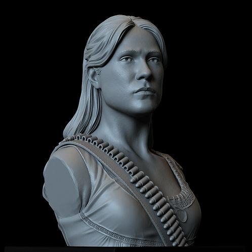 dolores abernathy, Evan Rachel Wood, westworld, hbo, sculpture, bust, 3d printing